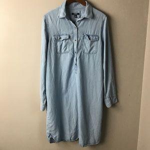 Soft denim tunic dress / top. Chaps. Large